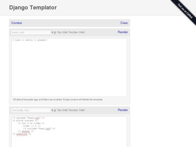 Django templator powered by django for Django template media