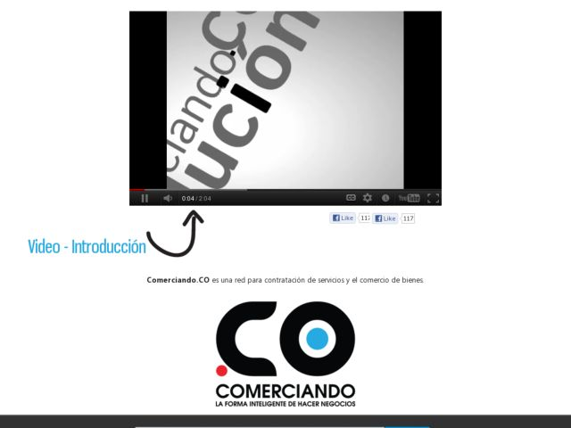 screenshot of Comerciando.CO