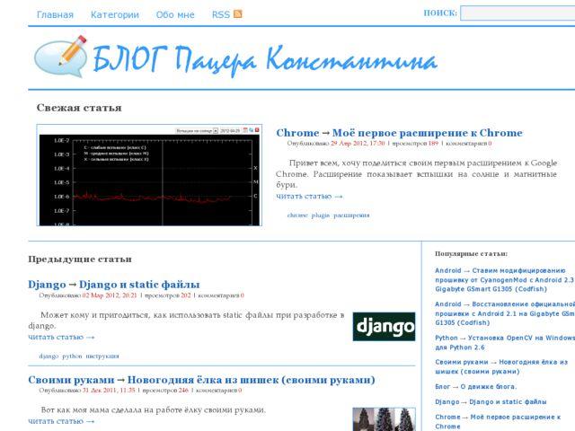 Konstantin Patzera's personal blog