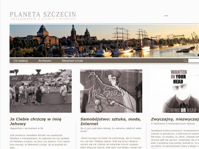 screenshot of Planeta Szczecin