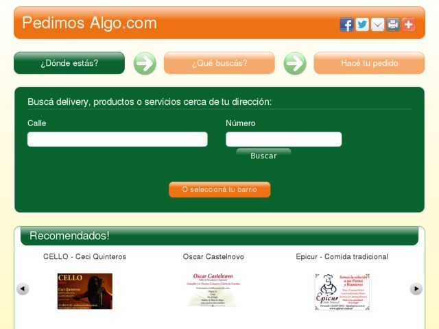screenshot of Pedimos Algo!