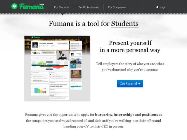 screenshot of Fumana - Job Search made Spectacular