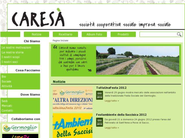 screenshot of Caresà - Social Cooperative