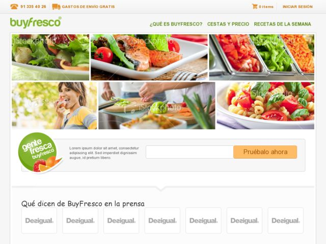 screenshot of Buyfresco.com
