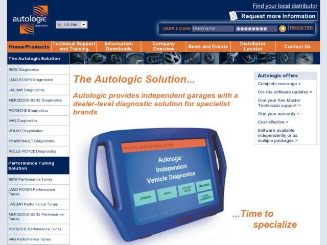 screenshot of Autologic Diagnostics