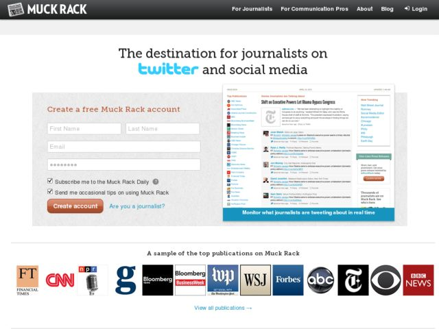 screenshot of Muck Rack