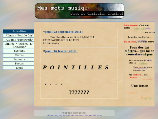 screenshot of mesmotsmusique
