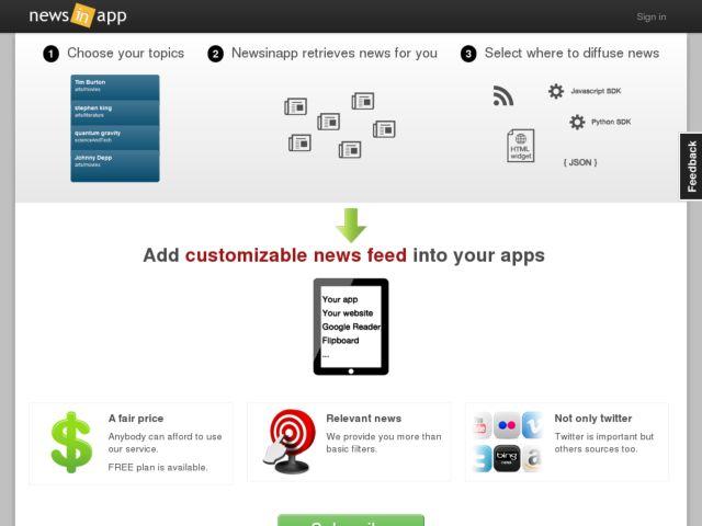 screenshot of Topics.io