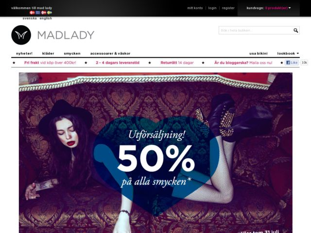 screenshot of Mad Lady