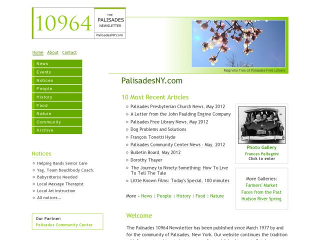10964 - The Palisades NY Newsletter