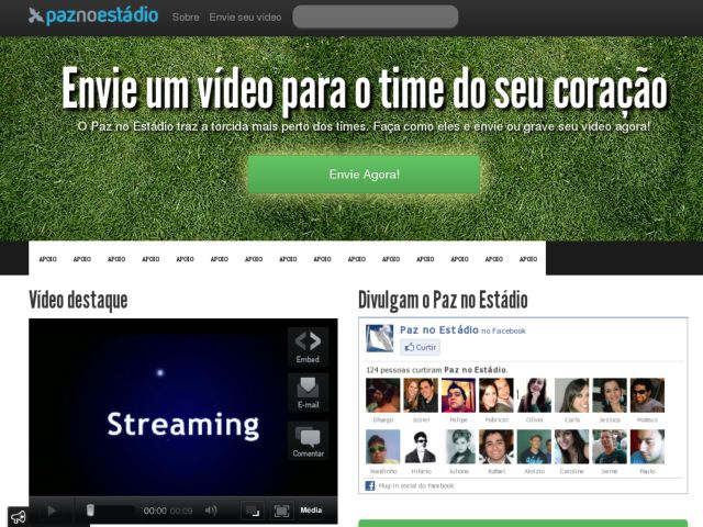 screenshot of Paz no Estádio