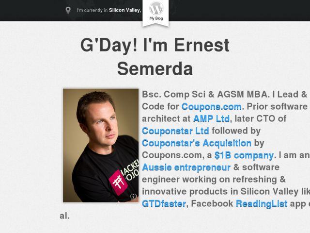 screenshot of Ernest Semerda Portfolio