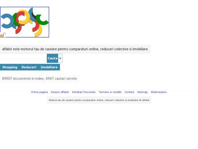 screenshot of alfalist.ro