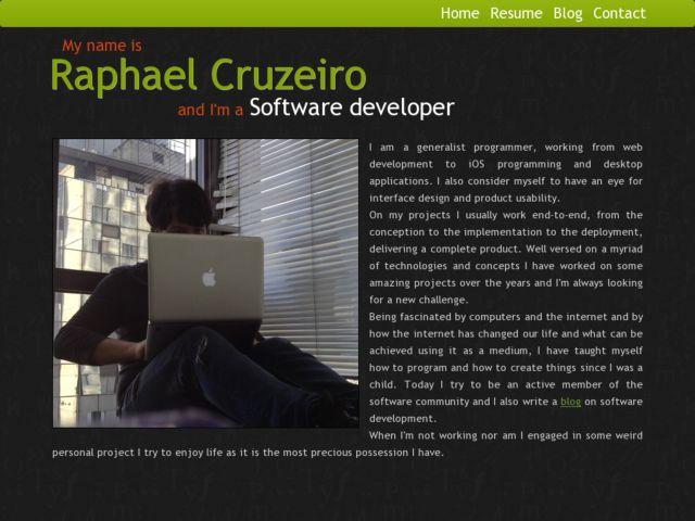 Raphael Cruzeiro's Website