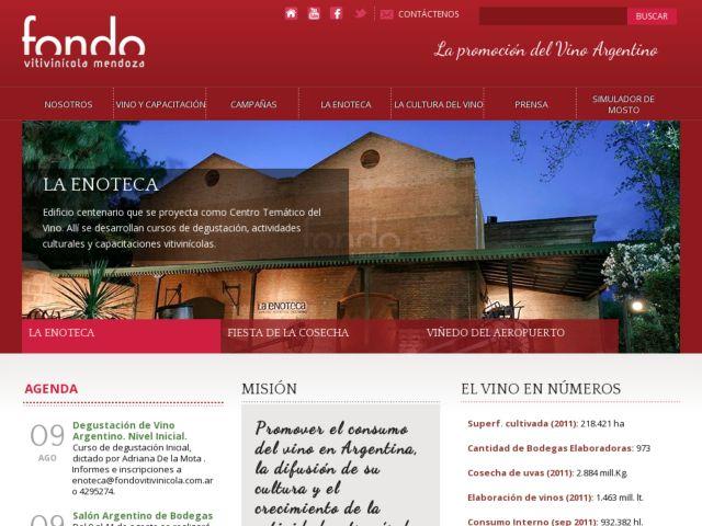 screenshot of Fondo Vitivinicola