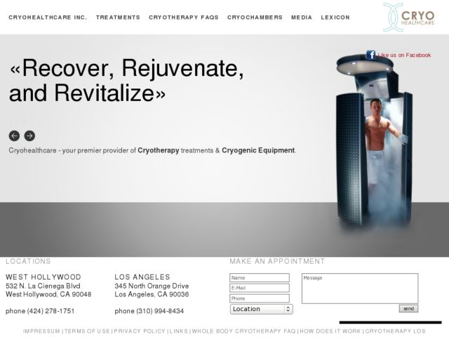 screenshot of  Whole Body Cryotherapy - Los Angeles, CA