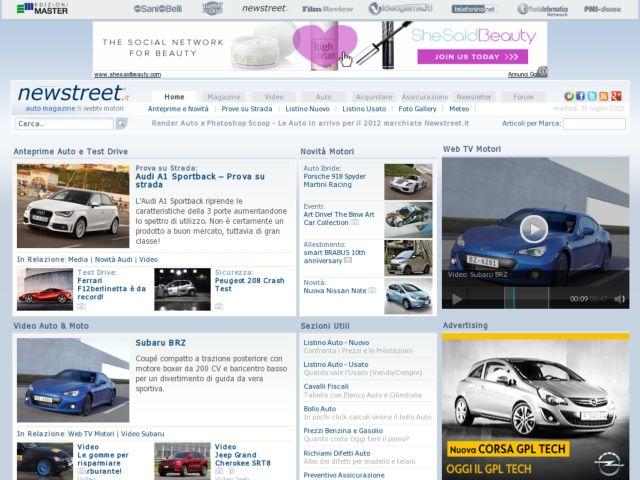 screenshot of Newstreet.it