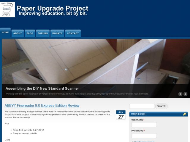 screenshot of Paper Upgrade Project - Overview