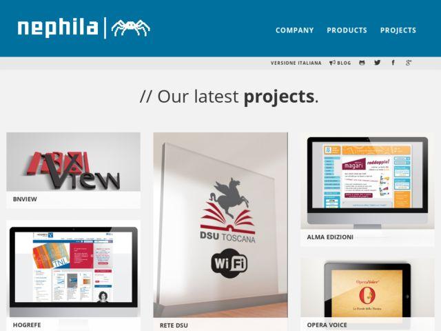 screenshot of Nephila - Open source & Django web factory