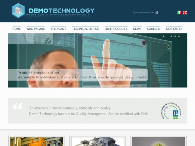 Demo Technology - Mechanical parts manufacturin