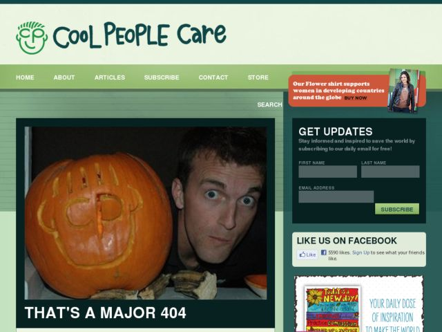 screenshot of CoolPeopleCare.org