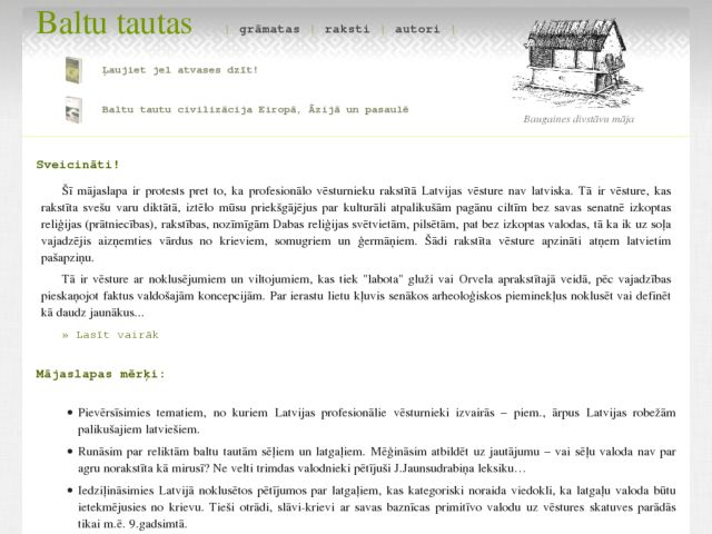 screenshot of Baltu tautas