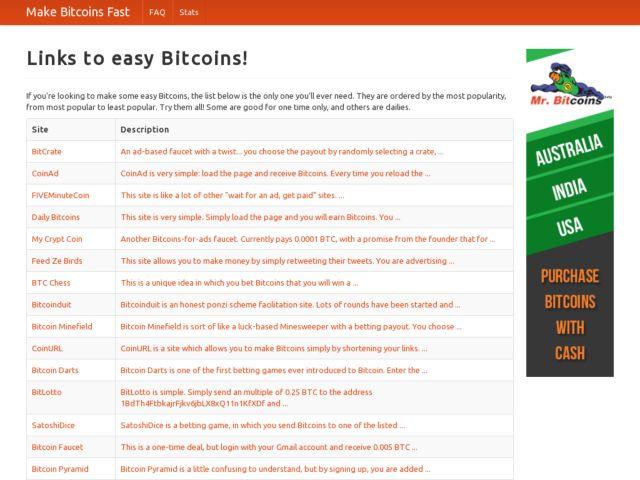 Make Bitcoins Fast