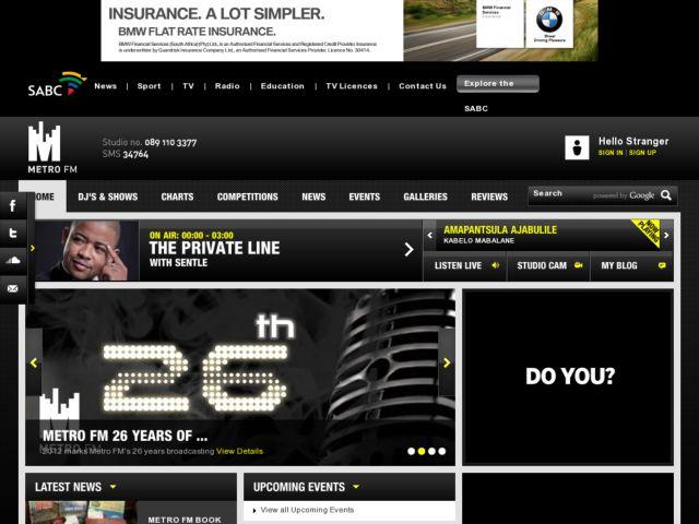 screenshot of MetroFM