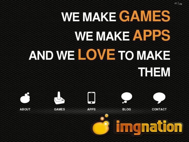 screenshot of IMGNATION Studios