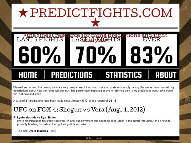 Predict fights - Accurate fight outcome predictions