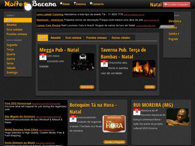 Noitebacana - Events Website