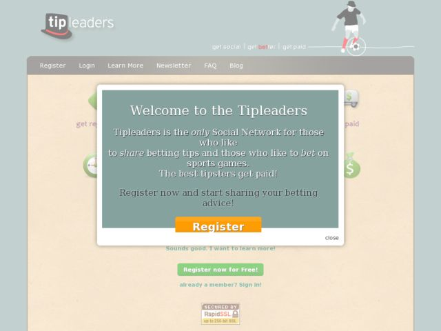 screenshot of Tipleaders