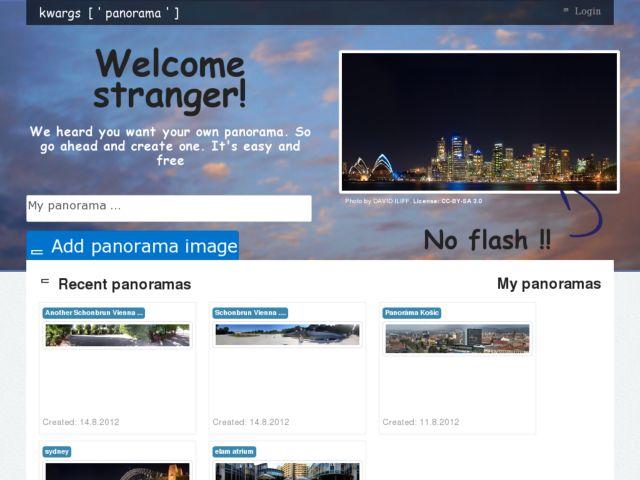 Online panoramas