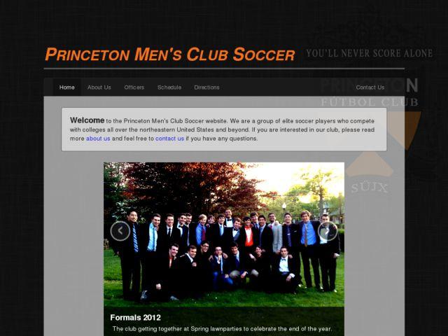 screenshot of Princeton Mens Club Soccer