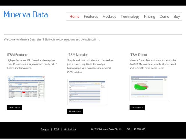 screenshot of Minerva Data