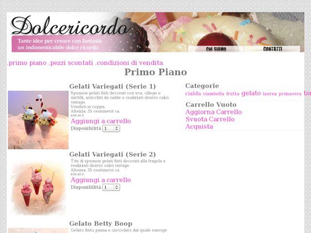 screenshot of Shop for Dolcericordo