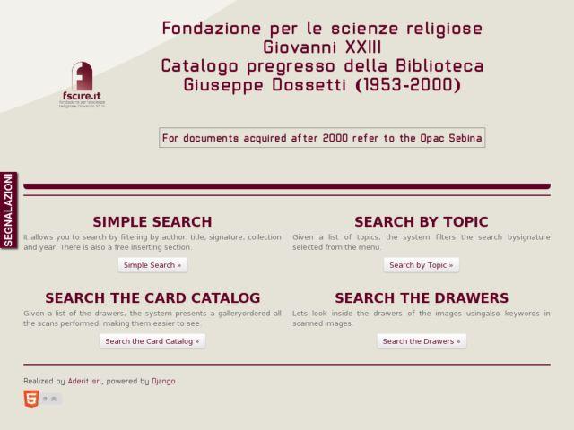 screenshot of Catalogo Fscire