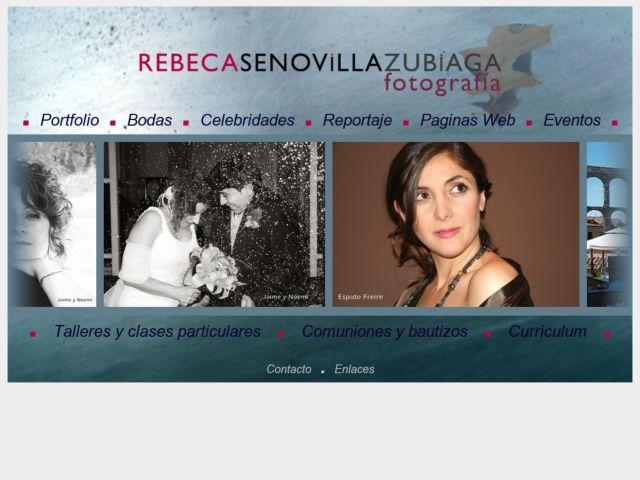 screenshot of Rebeca Senovilla - Fotografía Senovilla
