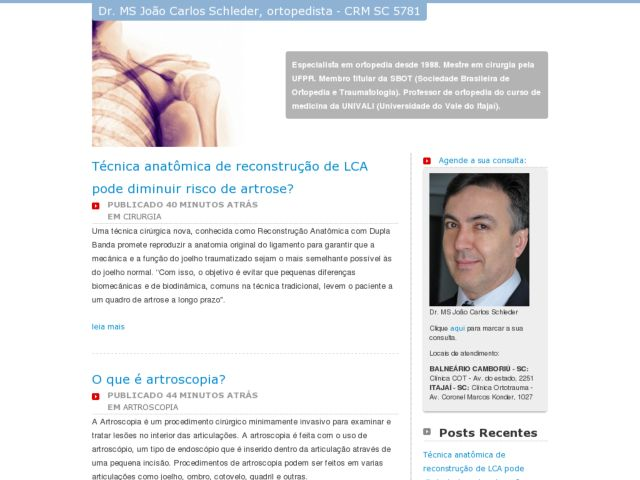 Orthopedic Doctor Joao Carlos Schleder