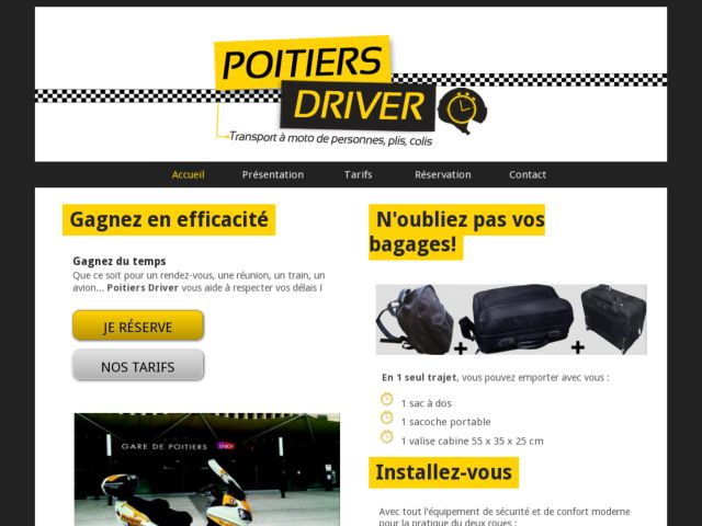 Taxi Moto Poitiers Driver