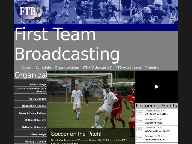 screenshot of First Team Broadcasting