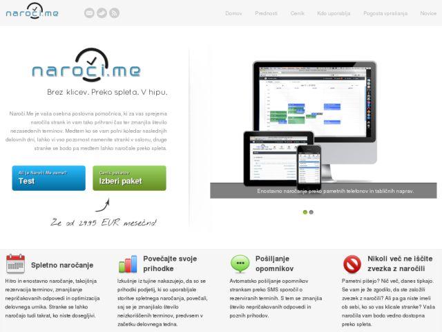 screenshot of Naroči.Me - spletno naročanje (online appointments)