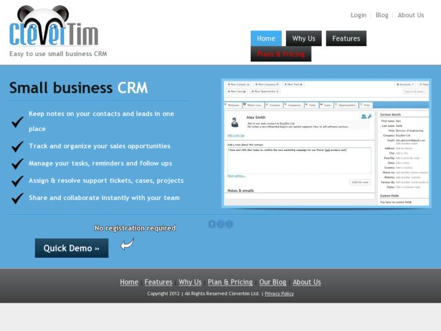 Clevertim - Easy to use small business CRM