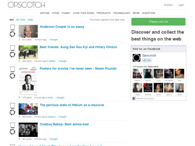 Opscotch: Discover and collect the best things on the web