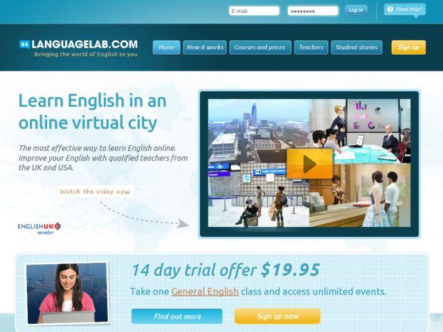 screenshot of Languagelab.com