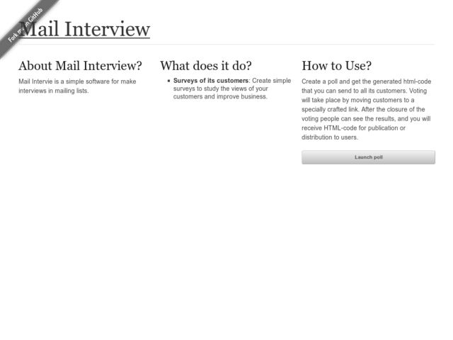 screenshot of Mail Interview