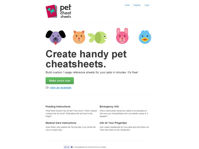 Pet Cheatsheets