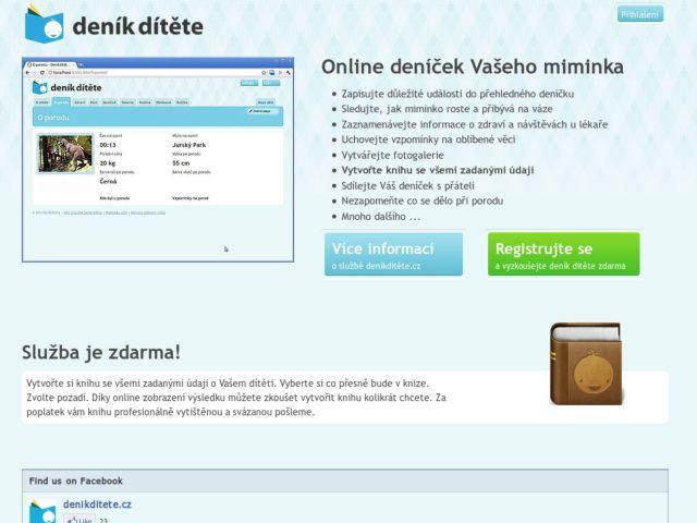 screenshot of Deník dítěte