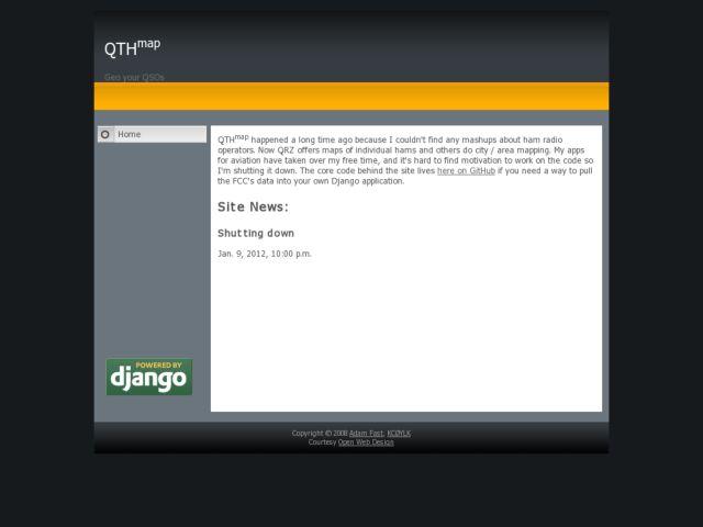 screenshot of QTHmap