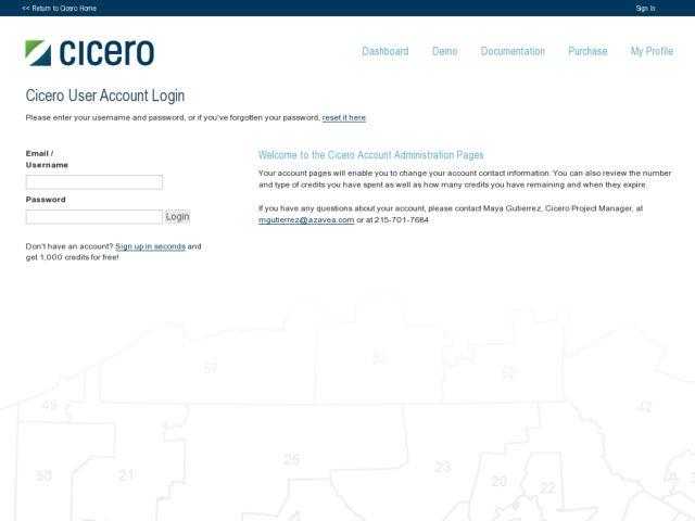 Cicero Web Services